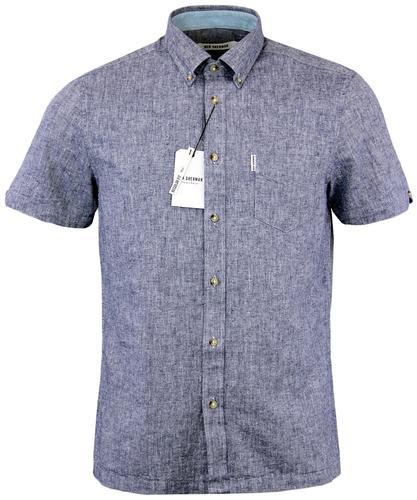 BEN SHERMAN Retro Mod Button Down Linen Shirt