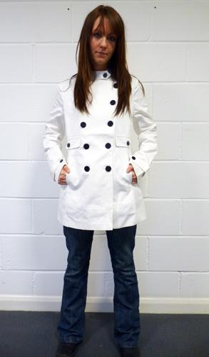 BEN SHERMAN WOMENS DAVIDSON PEACOAT RETRO MOD
