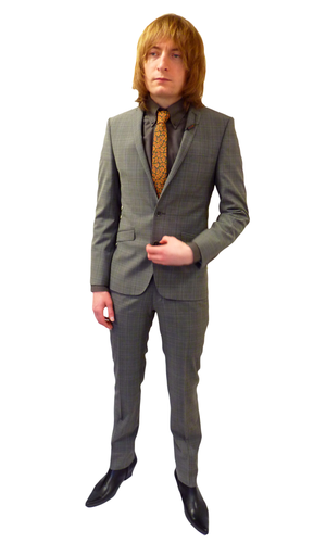 BEN SHERMAN SUIT JACKET TAUPE CHECK BLAZER