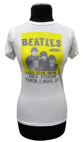 BEN SHERMAN WOMENS BEATLES TSHIRT TEE RETRO MOD