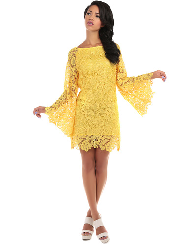 BRIGHT & BEAUTIFUL ANGEL RETRO 1960S LACE DRESS