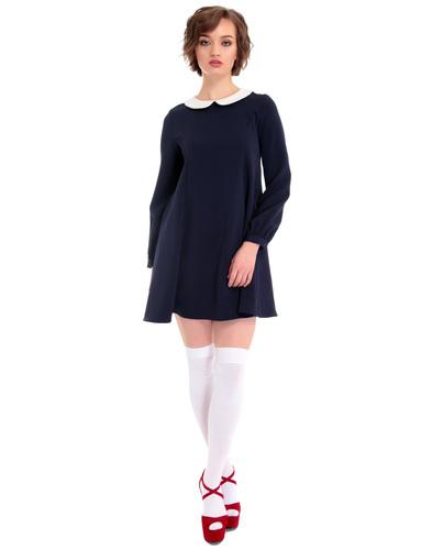BRIGHT AND BEAUTIFUL 60S MOD NIA LONG SLEEVE DRESS