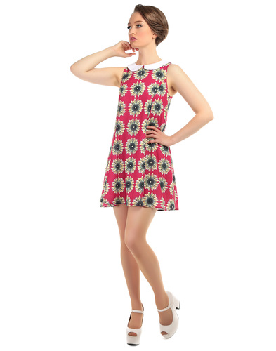BRIGHT & BEAUTIFUL NIA RETRO MOD SUNFLOWER DRESS
