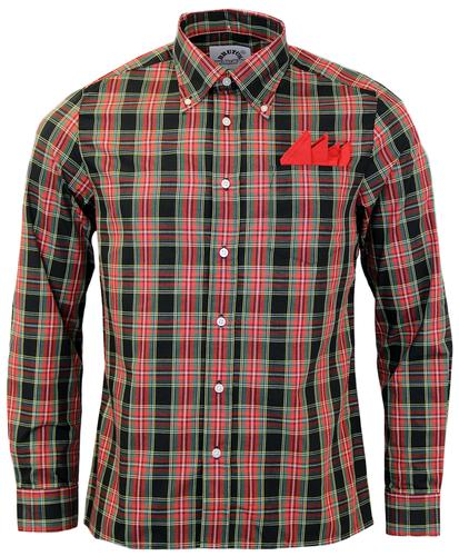 BRUTUS TRIMFIT RETRO BUTTON DOWN CHECK SHIRT