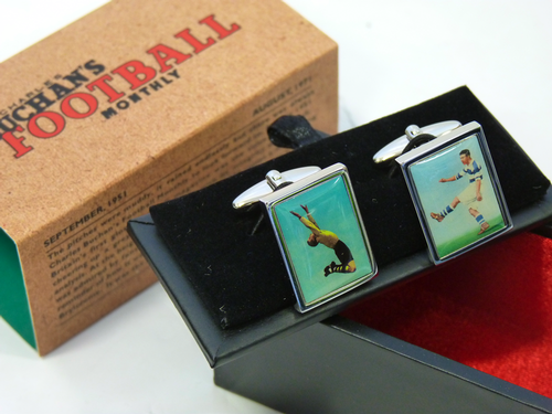 Keeper & Striker Charles Buchan's Retro Cuff Links