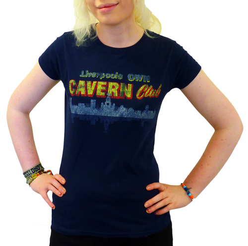 CAVERN CLUB T-SHIRT WOMENS LIVERPOOL SKYLINE 60s