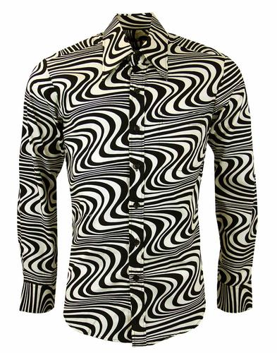 CHENASKI HEATWAVE RETRO SHIRT BLACK CREAM