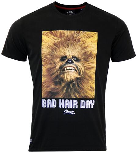 CHUNK CHEWBACCA BAD HAIR DAY RETRO T-SHIRT BLACK