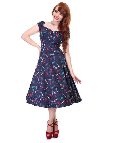 COLLECTIF DOLORES PIN UP DOLL RETRO 50S DRESS