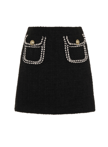Darling Retro Vintage 60s Skirt Cece Black