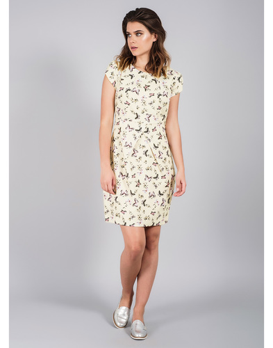 DARLING BLUEBELL RETRO 60S FLORAL FITTED DRESS