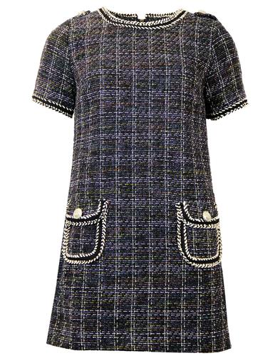 DARLING ELSA RETRO 60S TWEED DRESS
