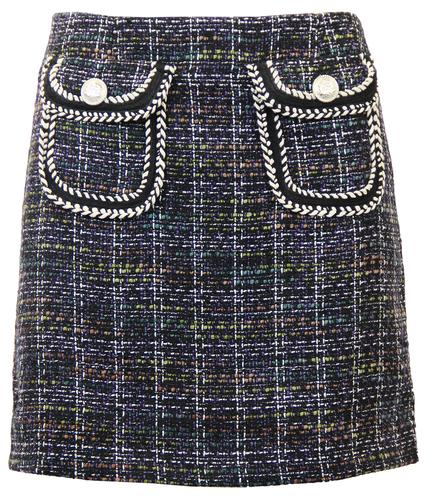 DARLING ELSA RETRO 60S TWEED SKIRT