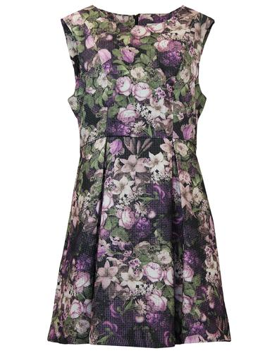DARLING SIAN VINTAGE FLORAL TEXTURED RETRO DRESS