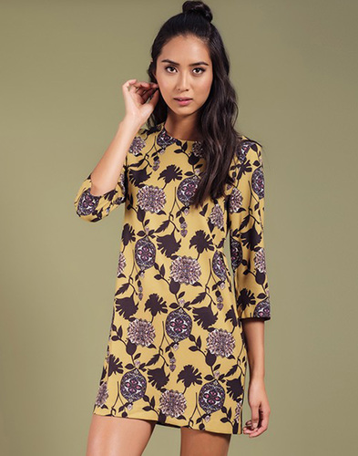 DARLING TULSI RETRO VINTAGE FLORAL TUNIC DRESS
