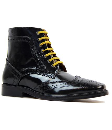 DELICIOUS JUNCTION LANDSLIDE BROGUE BOOTS BLACK