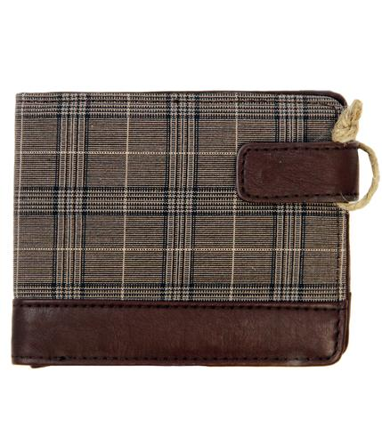 DUNLOP RETRO MOD PRINCE OF WALES CHECK WALLET