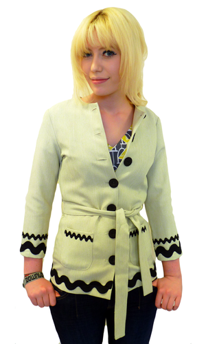EC STAR DEZI TUNIC JACKET RETRO MOD SEVENTIES