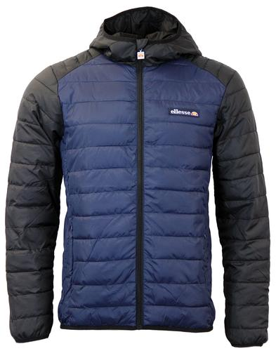 ELLESSE ADOVARDO RETRO QUILTED SKI JACKET BLUE