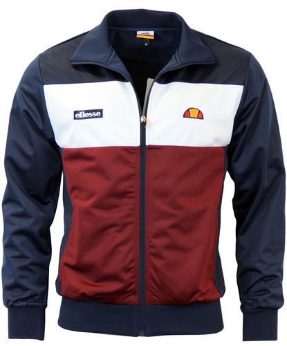 ELLESSE CAPRINI RETRO 80S BLOCK PANEL TRACK TOP