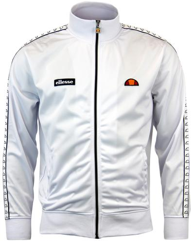 ELLESSE DEL CORSO RETRO 80S TAPED SLEEVE TRACK TOP
