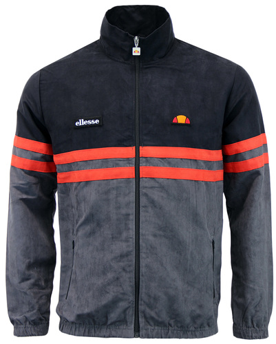 ELLESSE RIMINI V 80S CHEST STRIPE VELOUR TRACK TOP