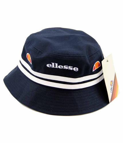ELLESSE RETRO NAVY AND WHITE STRIPES BUCKET HAT