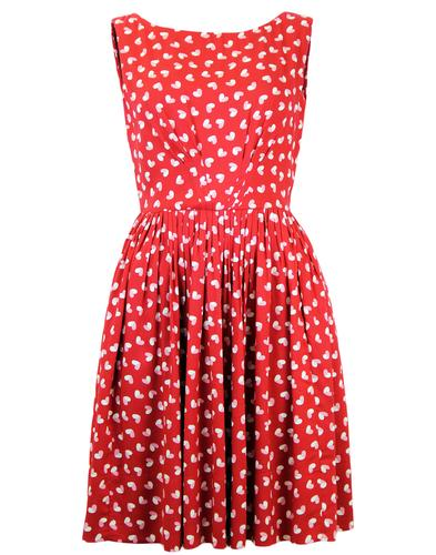 EMILY AND FIN 50S ABIGAIL SCARLETT HEART DRESS
