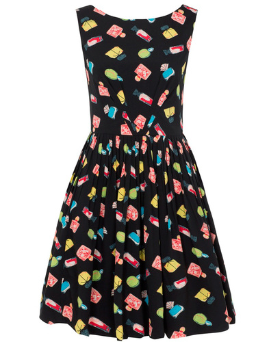 EMILY AND FIN ABIGAIL RETRO 60S VANITY PRINT DRESS