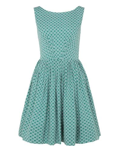 EMILY AND FIN ABIGAIL RETRO MOSAICFLARED DRESS