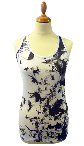 'Broken' - Womens Retro Indie Vest Top by FLY53