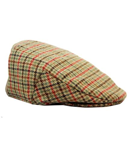 FAILSWORTH CAMBRIDGE RETRO DOGTOOTH TWEED CAP
