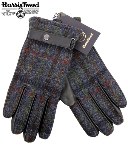 FAILSWORTH HARRIS TWEED & LEATHER RETRO GLOVES
