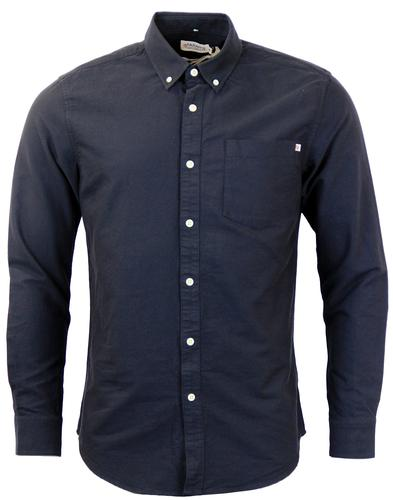 FARAH 1920 CONNOLLY RETRO OXFORD SHIRT NAVY