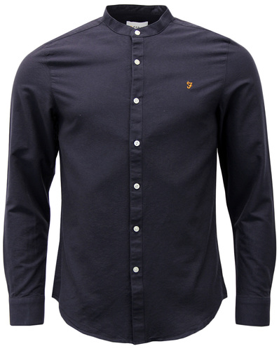 FARAH BREWER GRANDAD COLLAR RETRO OXFORD SHIRT