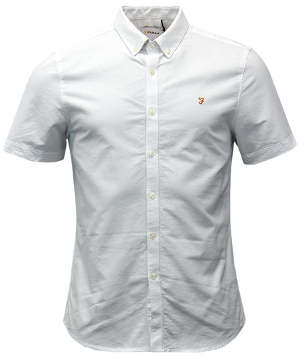 FARAH BREWER RETRO 60S SHORT SLEEVE OXFORD SHIRT