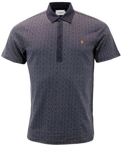FARAH CRITCHLEY RETRO MOD 60S DOT POLO