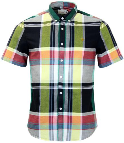 FARAH CROXTED RETRO MOD MULTICOLOURED CHECK SHIRT
