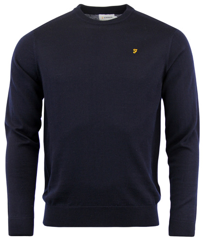 FARAH MULLEN RETRO MOD 960S CREW NECK WOOL JUMPER