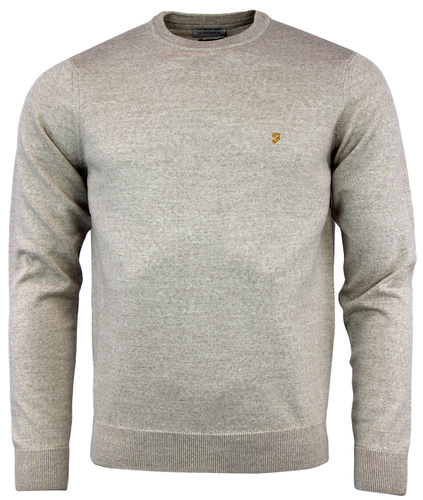 FARAH MULLEN RETRO MOD 1960S CREW NECK WOOL JUMPER