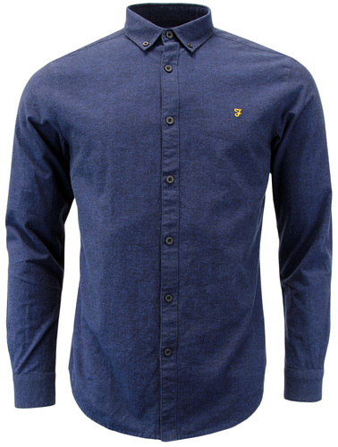 FARAH STEEN RETRO MOD BUTTON DOWN OXFORD SHIRT