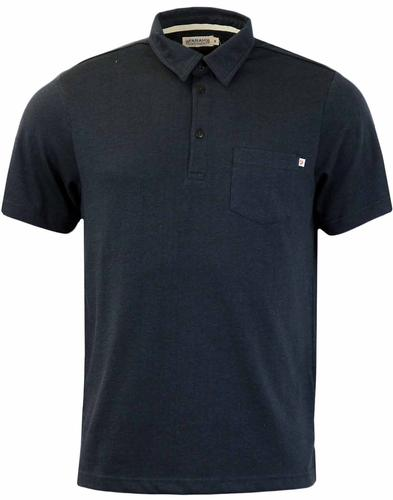 FARAH WALLINGHAM JERSEY RETRO MOD POLO TRUE NAVY