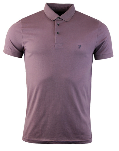 French connection jersey polo plum