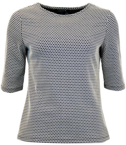 FEVER BRIDGET RETRO JACQUARD LATTICE WEAVE TOP