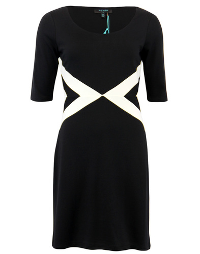 Quebec FEVER Retro Sixties Geometric Panel Dress