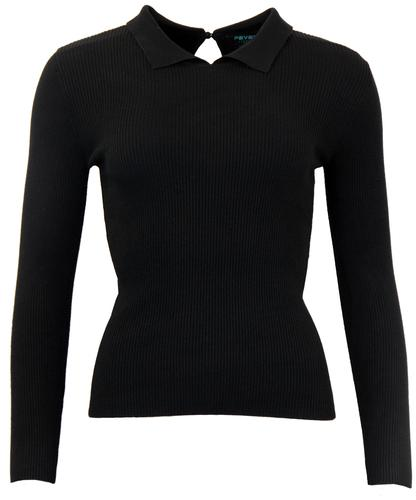 FEVER JOSEPHINE RETRO VINTAGE RIBBED JUMPER