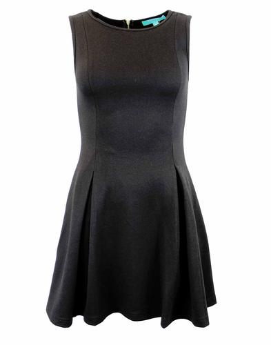 FEVER BIBI SKATER RETRO MOD DRESS BLACK