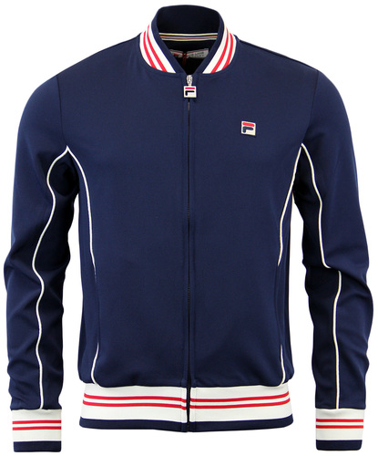 FILA VINTAGE BARANCI RETRO 1970S TIPPED TRACK TOP