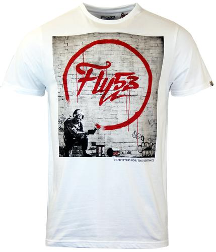 FLY53 RETRO BANKSY STYLE GRAFFITI TEE