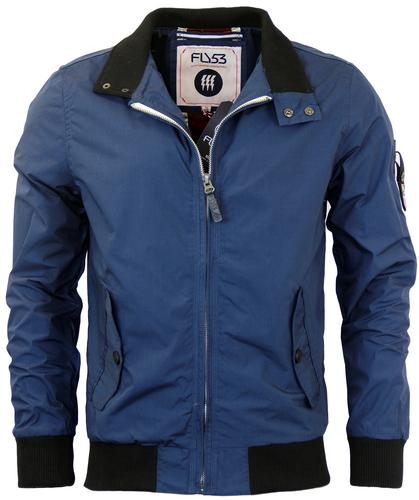 FLY53 RETRO MOD CHURCHILL JACKET BLUE